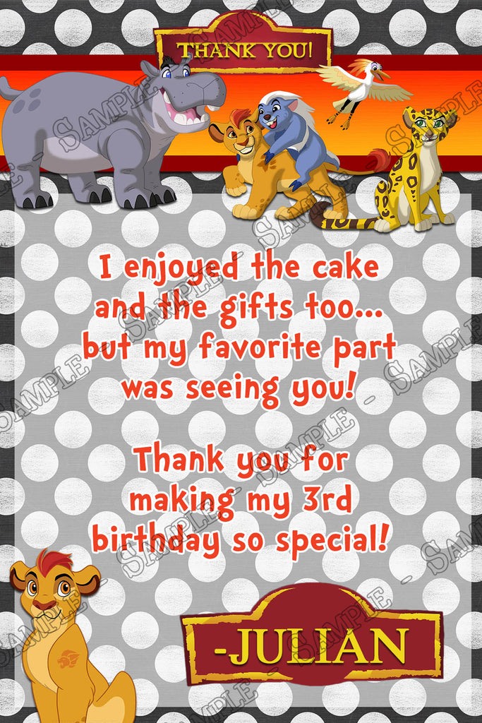Novel Concept Designs The Lion Guard Lion King Birthday Party