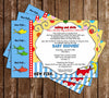 One Fish - Two Fish - New Fish - Dr Seuss Baby Shower Invitation