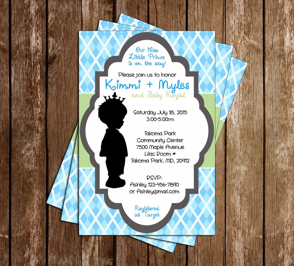 Novel concept designs royal baby precious little prince baby royal baby precious little prince baby shower invitation filmwisefo