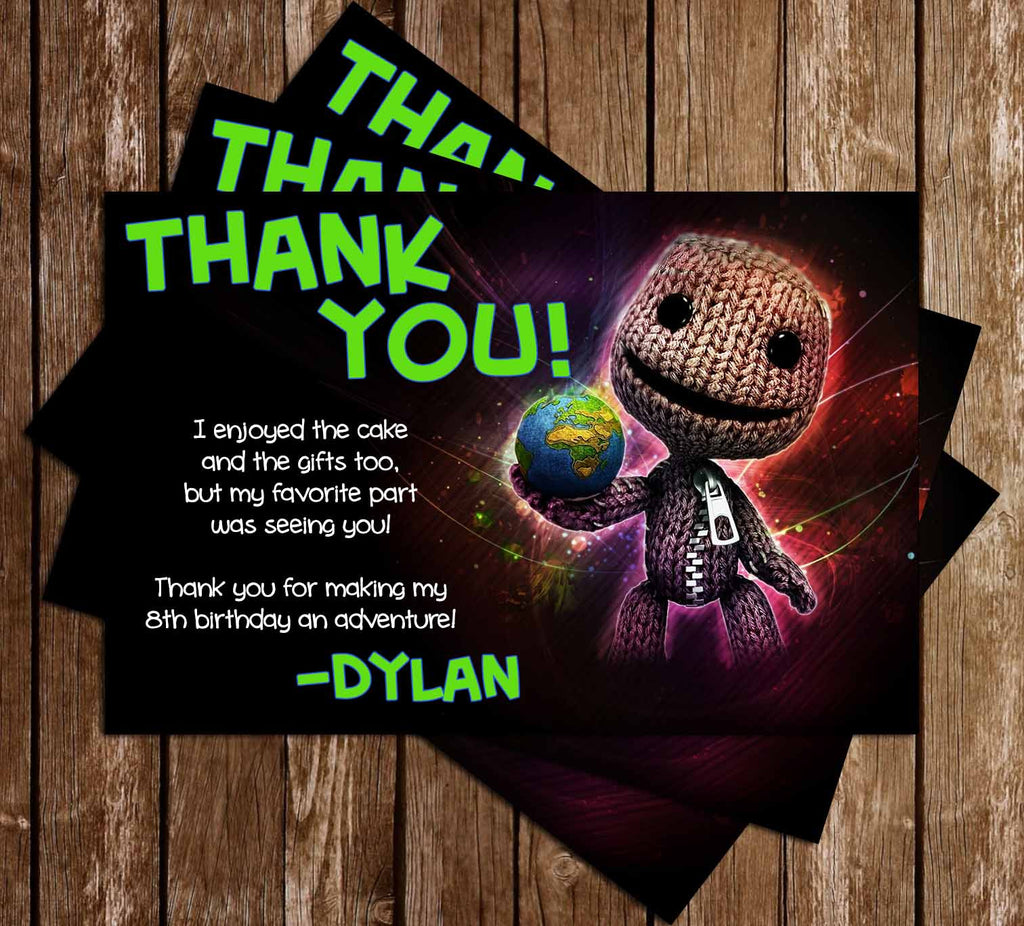 The Little Big Planet Video Game Thank You Card