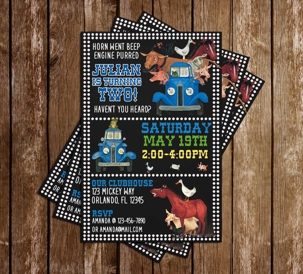 Little Blue Truck - Tall - Birthday Party - Invitation