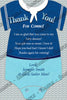 Little Sailor - Ahoy - Baby Shower - Invitation