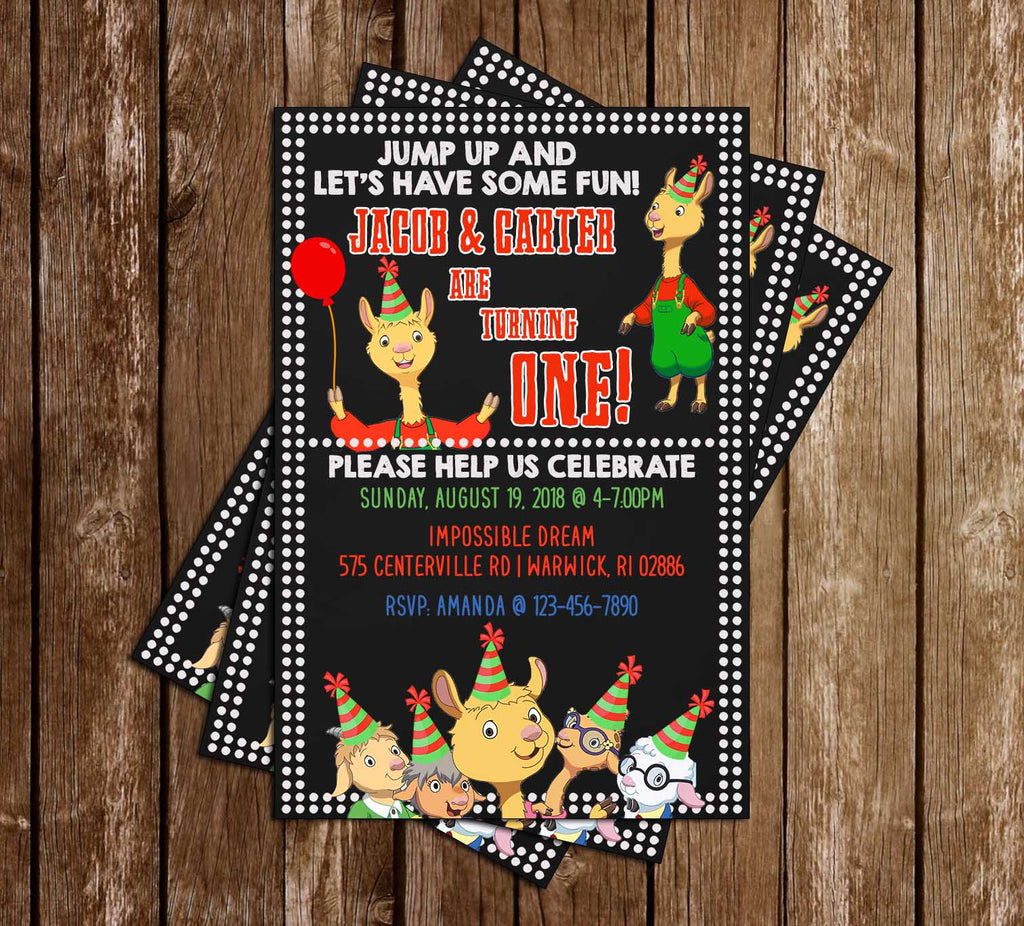 Llama Llama - Birthday Party - Invitations
