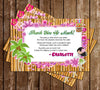 Hawaiian Luau - Birthday Party - Thank You Card