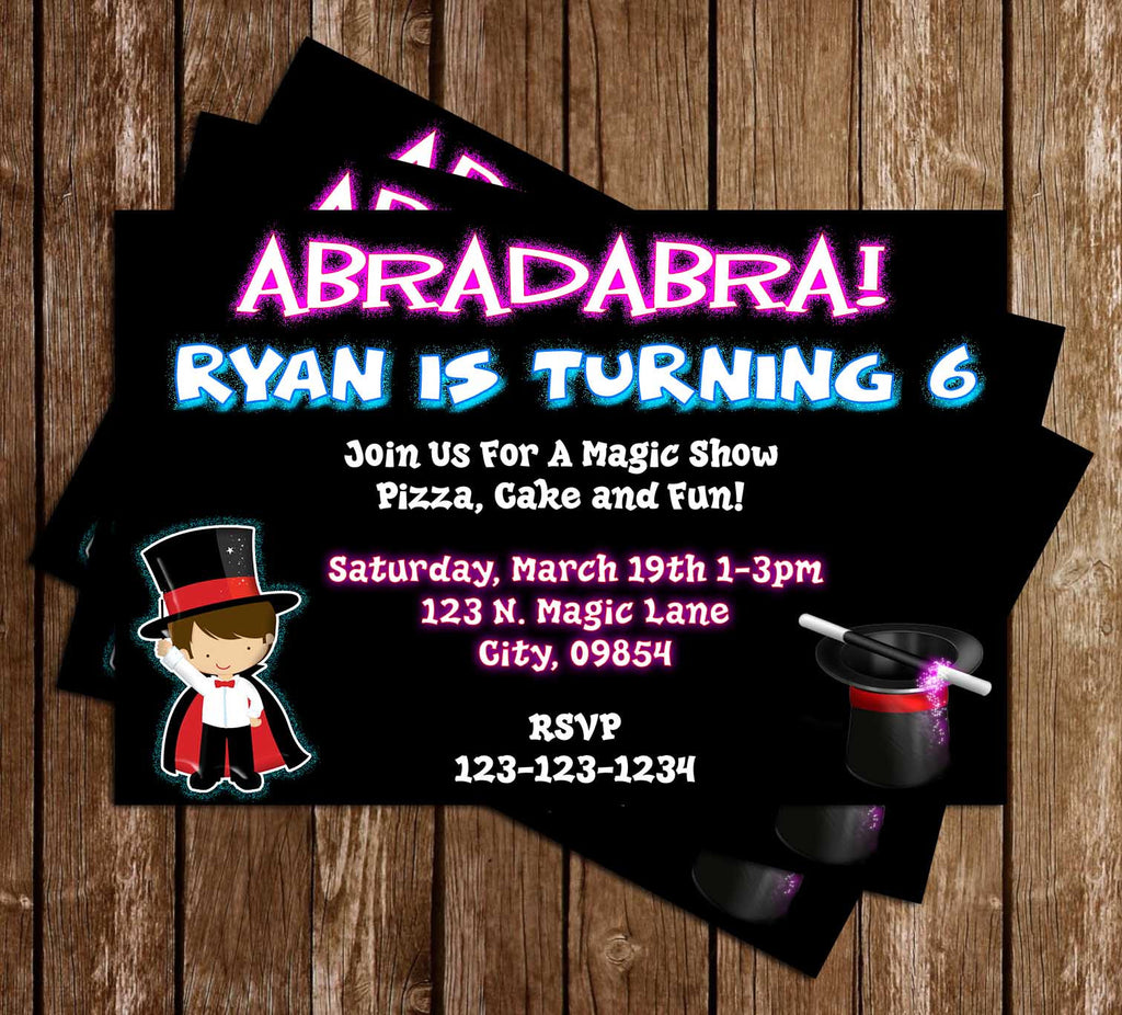Magic - Magician - Birthday Party - Invitation