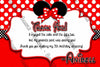 Minnie Mouse - Disney - Red Polka Dots - Birthday - Thank You Card