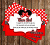 Disney Minnie Mouse - Red Polka Dots - Birthday Party Invitation