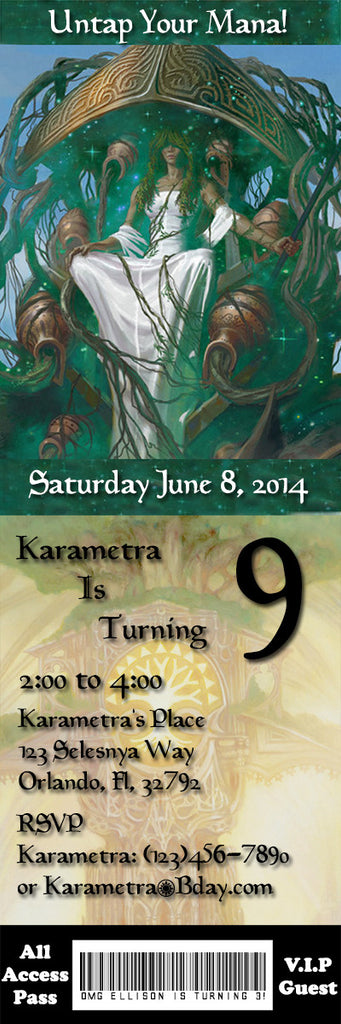 Novel Concept Designs Magic The Gathering Birthday Party Ticket