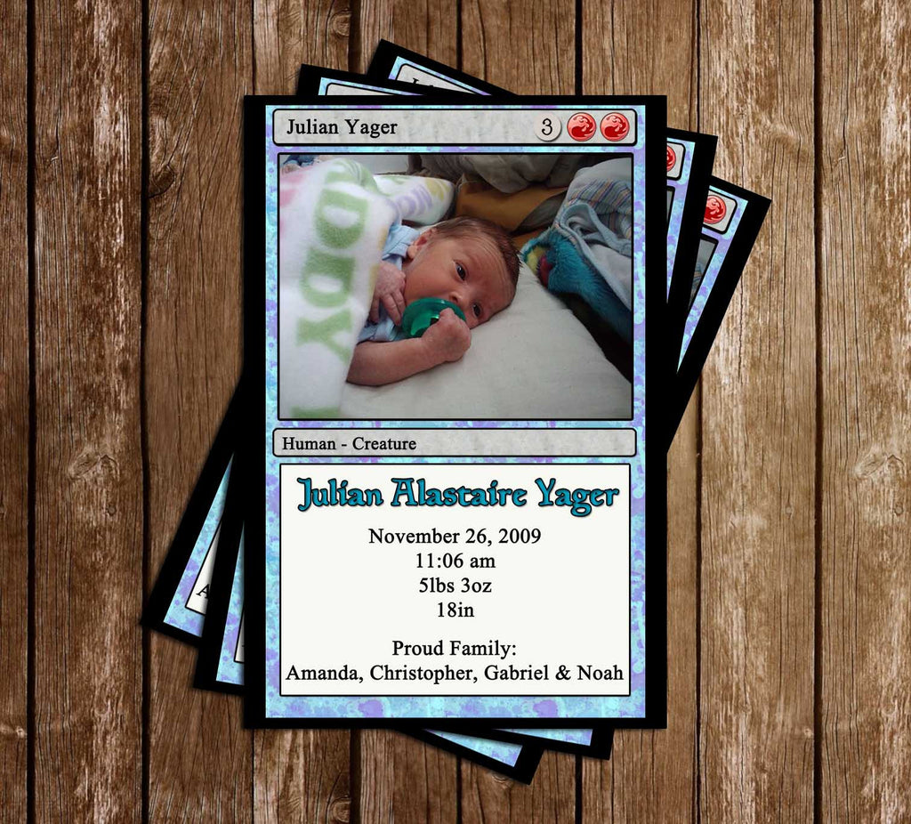 Magic The Gathering - Birth Announcment