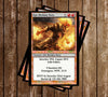 Magic The Gathering Birthday Invitation (Red)