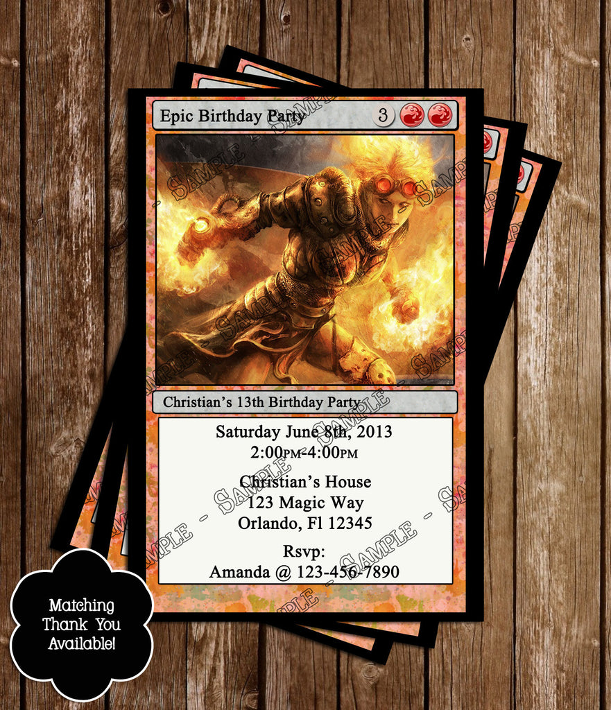 Novel concept designs magic the gathering birthday invitation red magic the gathering birthday invitation red bookmarktalkfo Image collections