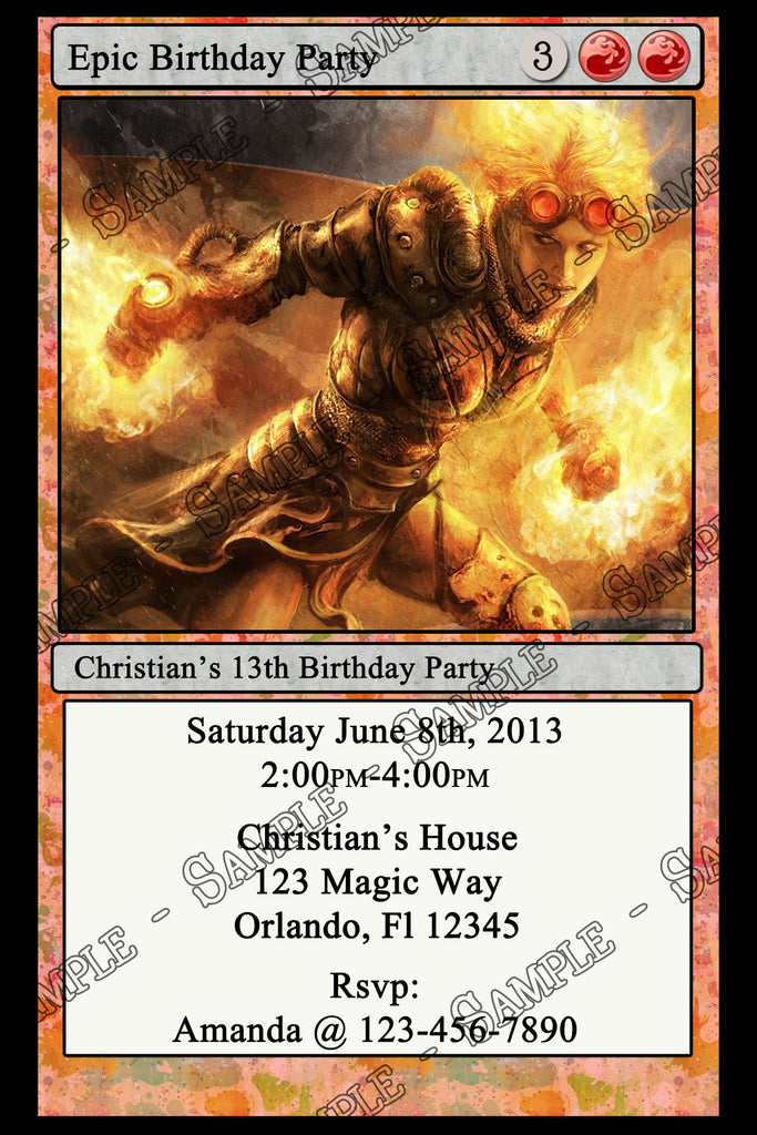 Novel Concept Designs - Magic The Gathering Birthday ...