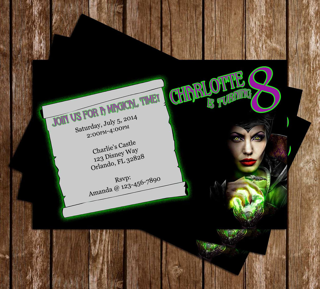 Maleficent Birthday Party Invitation