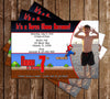 Super Mario Bros Birthday Party Invitation with Photo of Your Child