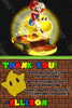 Super Mario Galaxy 2 Video Game Birthday Party Thank You Card