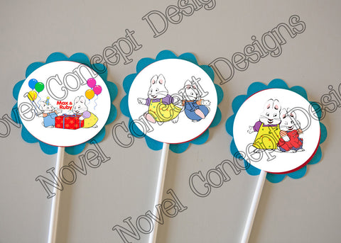 Free Max & Ruby Cupcake Topper / Party Favor
