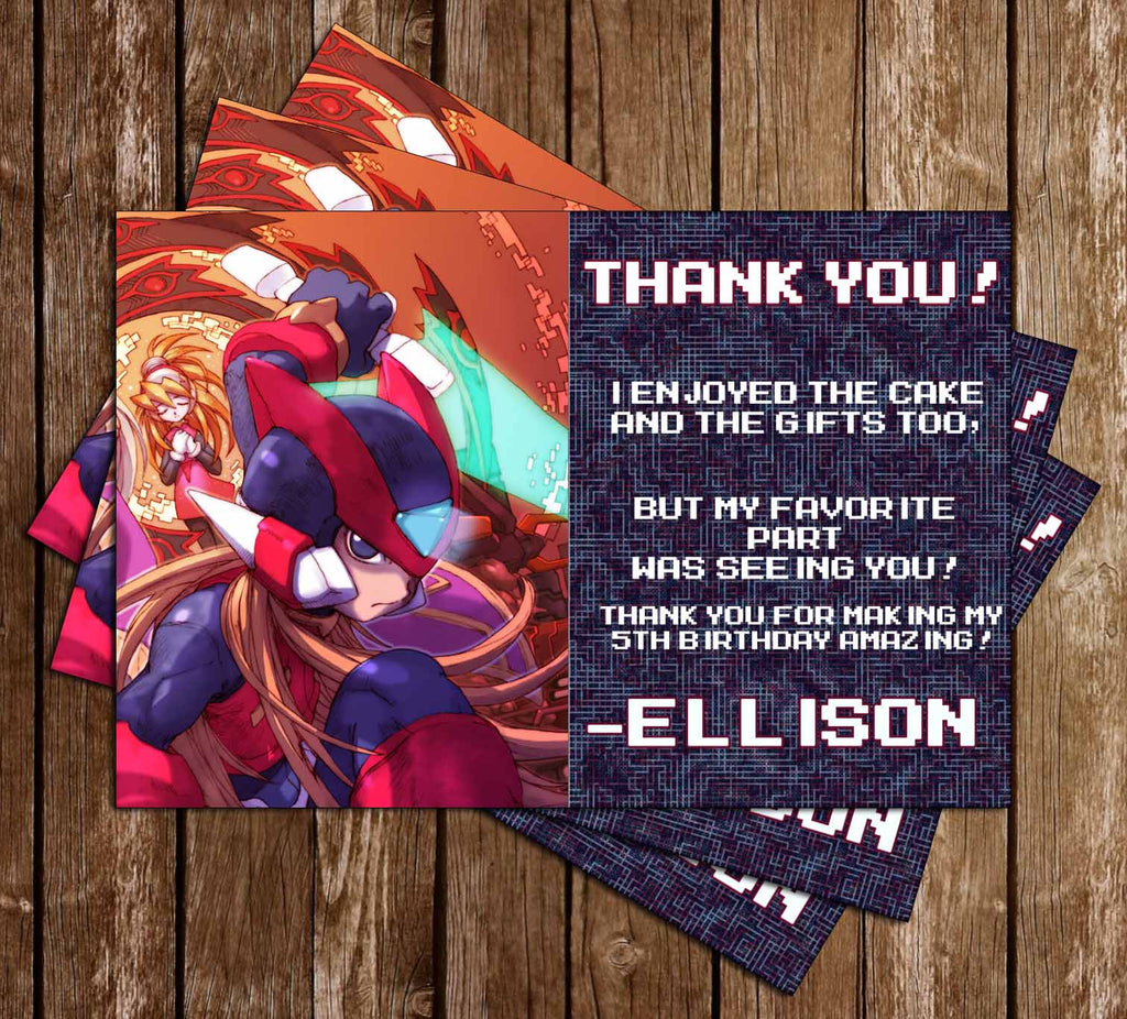 Megaman Game Birthday Thank You Card