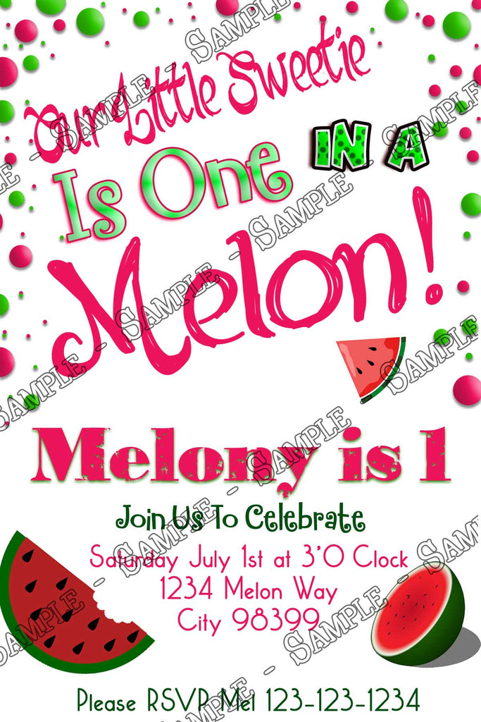 novel concept designs one in a melon watermelon birthday party