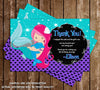Mermaid Kisses and Starfish Wishes - Birthday Party Invitation
