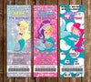 Mermaids - Under the Sea - Birthday Party Ticket Invitation