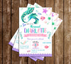 Mermaid - Tail - Birthday Party - Invitation