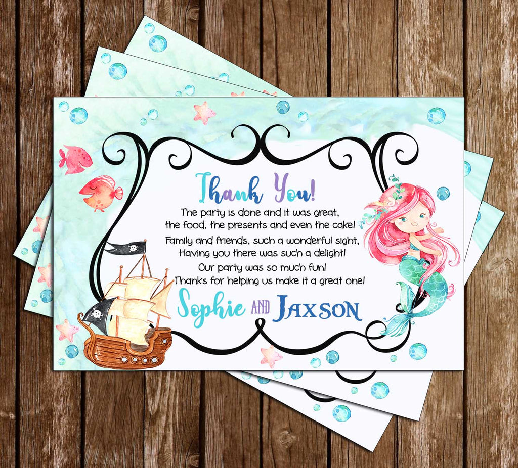 Novel Concept Designs - Mermaid or Pirate - Under the Sea - Birthday ...