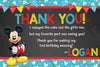 Mickey Mouse - Blue Banner - Thank You Card
