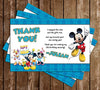 Mickey Mouse Tall Chalkboard Birthday Invitation