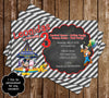 Mickey Mouse Carnival Chalkboard Birthday Invitation