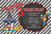 Disney Mickey Mouse Carnival Chalkboard Birthday Invitation