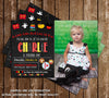 Mickey Mouse - Chalkboard - Birthday Invitation (Large Photo)