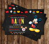 Disney Mickey Mouse - Chalkboard - Birthday - Thank You Card