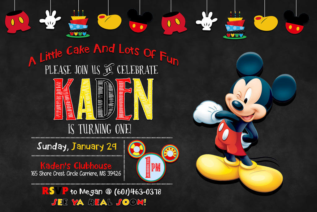 Novel Concept Designs Mickey Mouse Banner Chalkboard