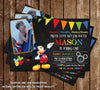 Disney Mickey Mouse Chalkboard Birthday Invitation (Photo)