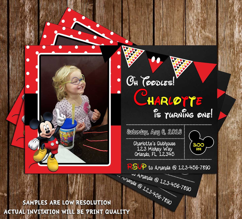 novel concept designs disney mickey mouse red chalkboard
