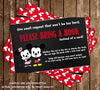 Mickey Mouse & Minnie Mouse - Gender Reveal - Baby Shower - Book Insert