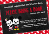 Mickey Mouse & Minnie Mouse - Gender Reveal - Baby Shower Invitation