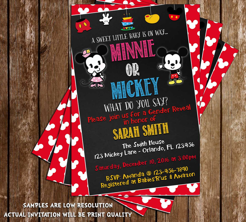 Novel Concept Designs - Mickey Mouse & Minnie Mouse - Gender Reveal ...