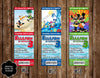Mickey Mouse Pool Party / Beach Ticket Invitations (3 Designs)