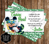 Disney Minnie Mouse Pool Party / Beach Thank You Card