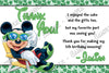 Disney Mickey Mouse Pool Party Thank You Card