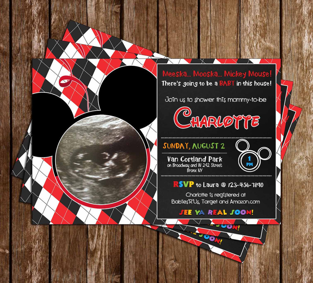 Meeska Mooska Mickey Mouse - Baby Shower Invitation