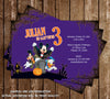 Disney Mickey Mouse Spooky Halloween Birthday Party Invitation