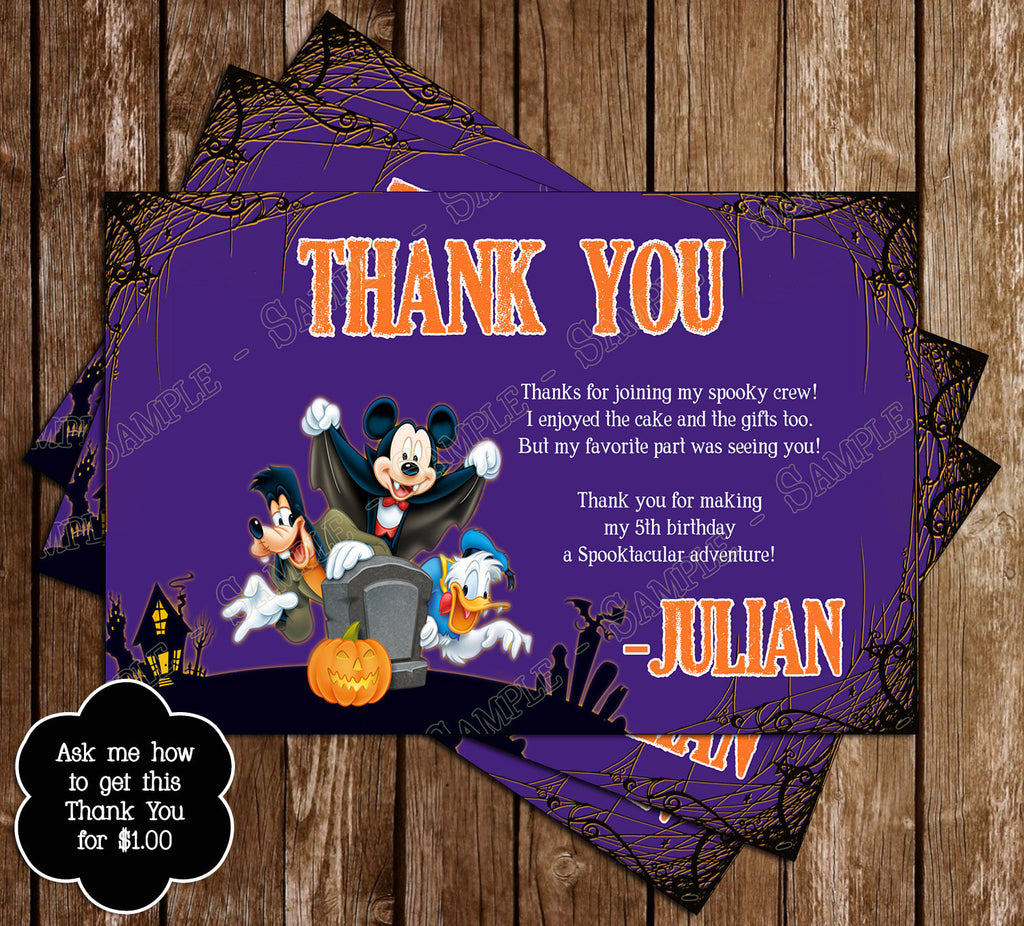 Novel Concept Designs - Mickey Mouse Spooky Halloween Birthday ...
