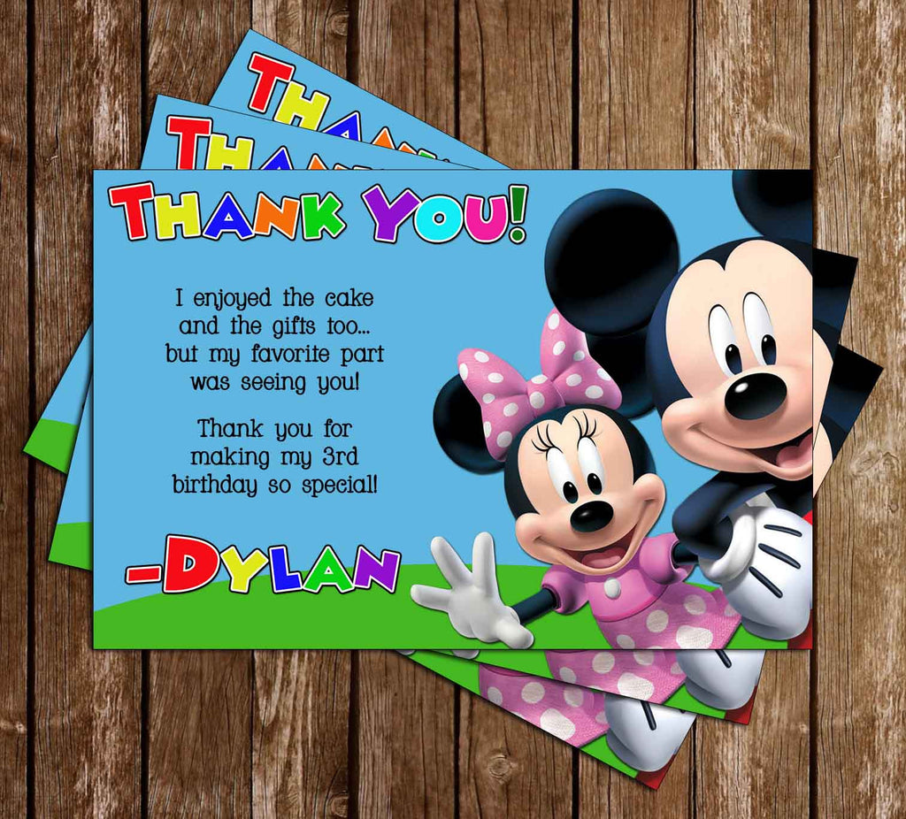 Wenskaarten Briefpapier Mickey Mouse Clubhouse Birthday Invitations And Thank You Cards 8 Of Each