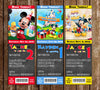 Mickey Mouse Clubhouse Chalkboard Birthday Party Ticket Invitation
