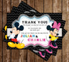 Disney - Mickey & Minnie - Heads - Birthday Party Invitation