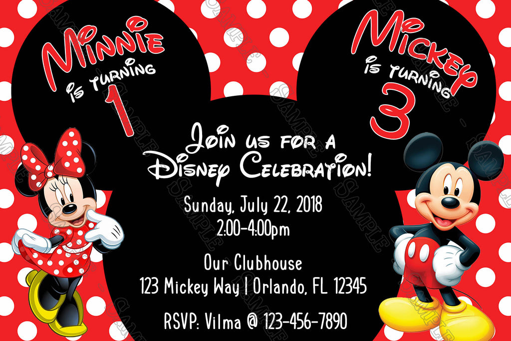 Novel Concept Designs Mickey Minnie Mouse Polka Dots
