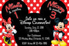 Mickey Mouse & Minnie Mouse - Polka Dots - Birthday Party - Invitation