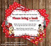 Baby Mickey & Minnie Mouse Baby Shower - Bring a Book Insert
